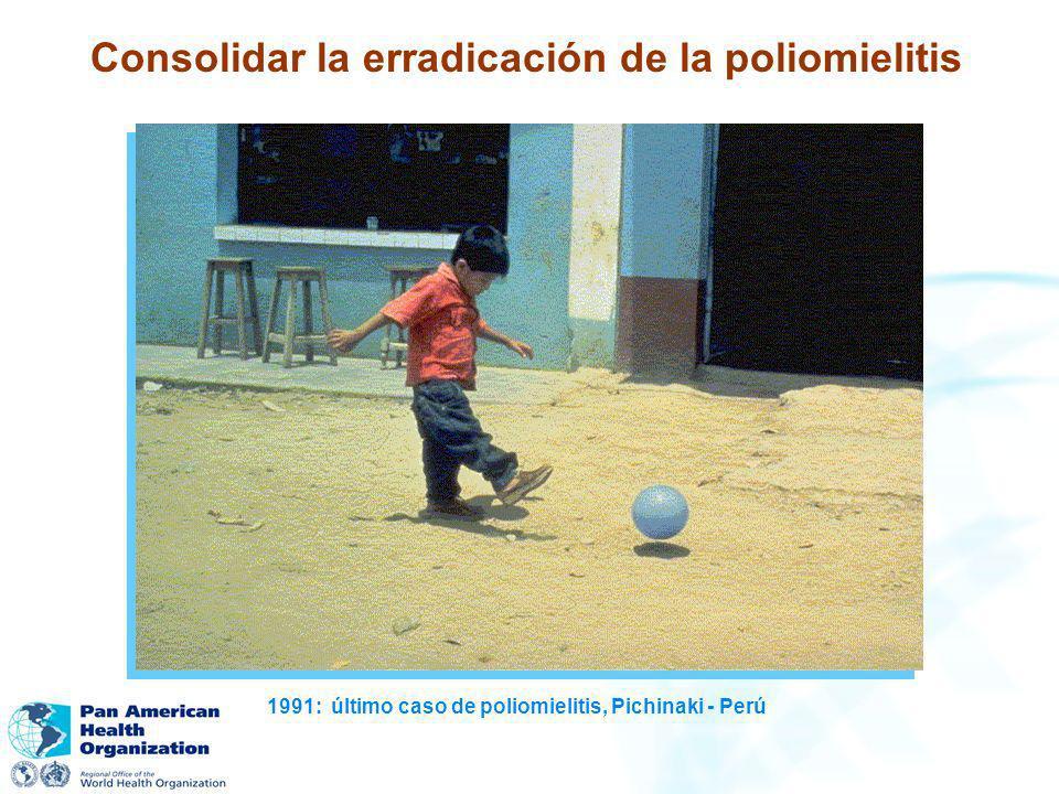 Consolidar la erradicación de la poliomielitis