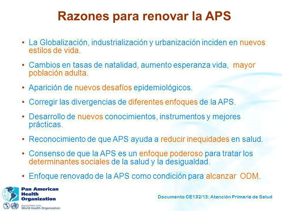 Razones para renovar la APS