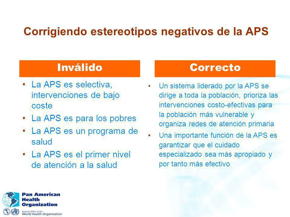 Corrigiendo estereotipos negativos de la APS