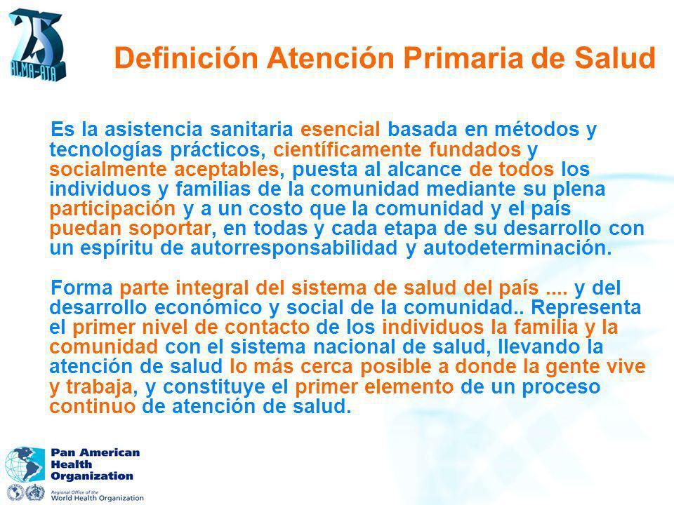 Definición Atención Primaria de Salud