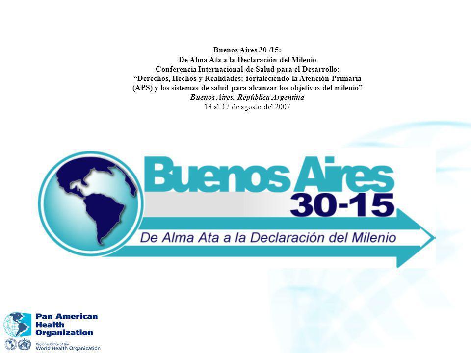 De Alma Ata a la Declaración del Milenio