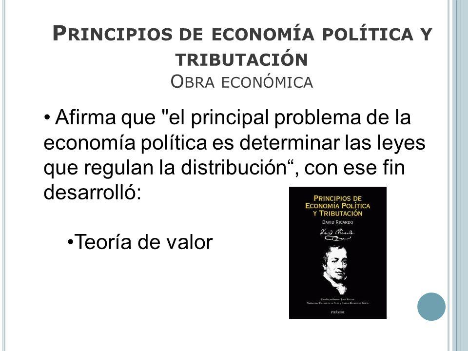 Principios de economía política y tributación Obra económica
