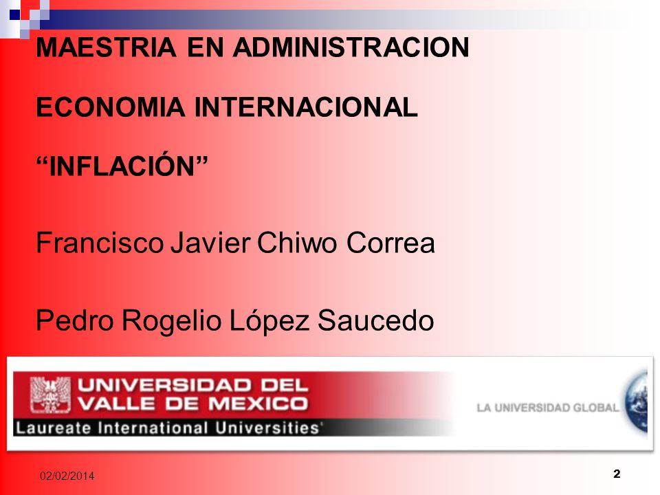 Francisco Javier Chiwo Correa Pedro Rogelio López Saucedo