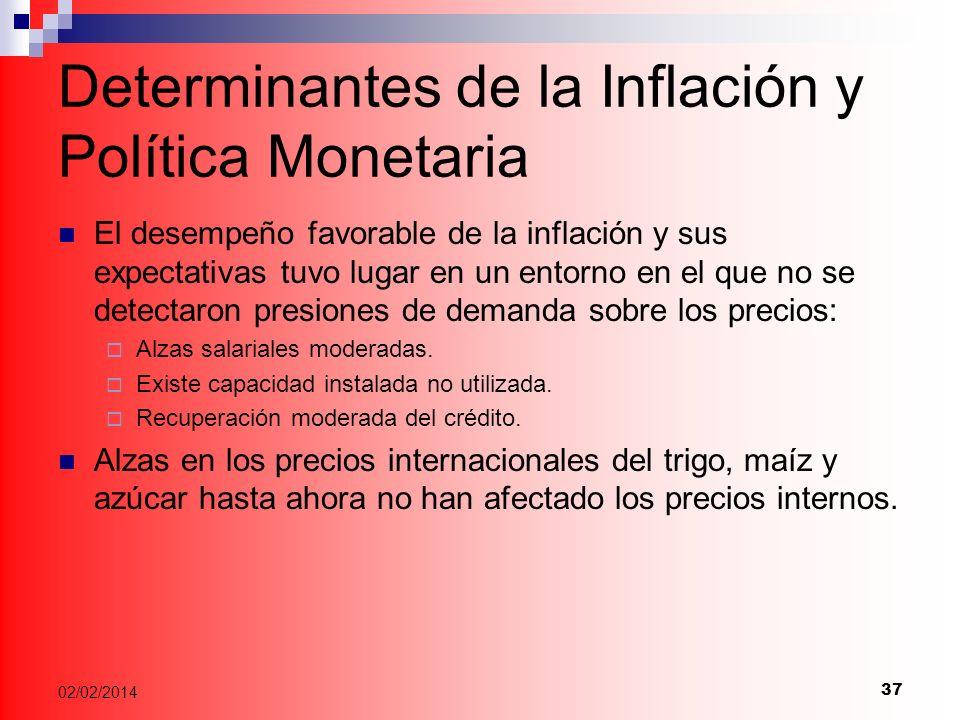 Determinantes de la Inflación y Política Monetaria