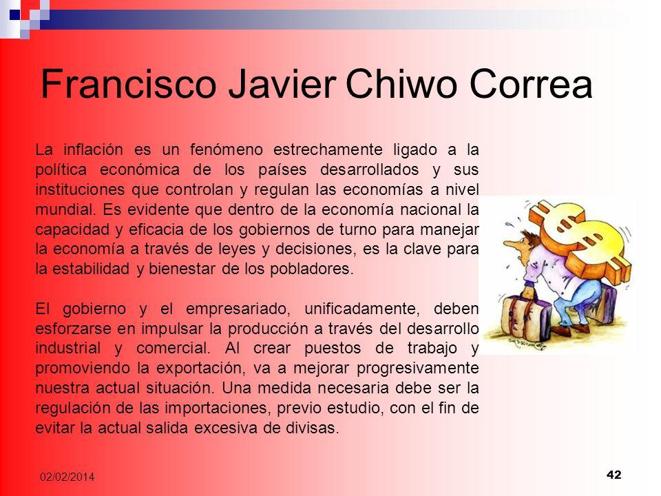 Francisco Javier Chiwo Correa