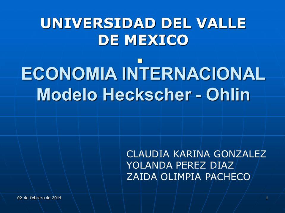 ECONOMIA INTERNACIONAL Modelo Heckscher - Ohlin