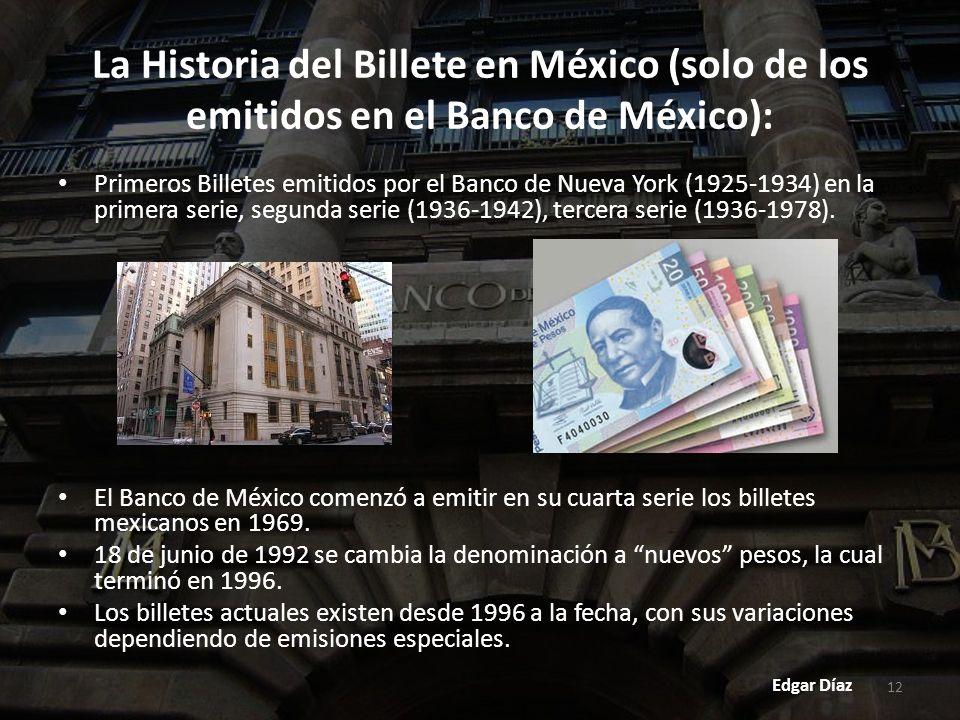 La Historia del Billete en México (solo de los emitidos en el Banco de México):