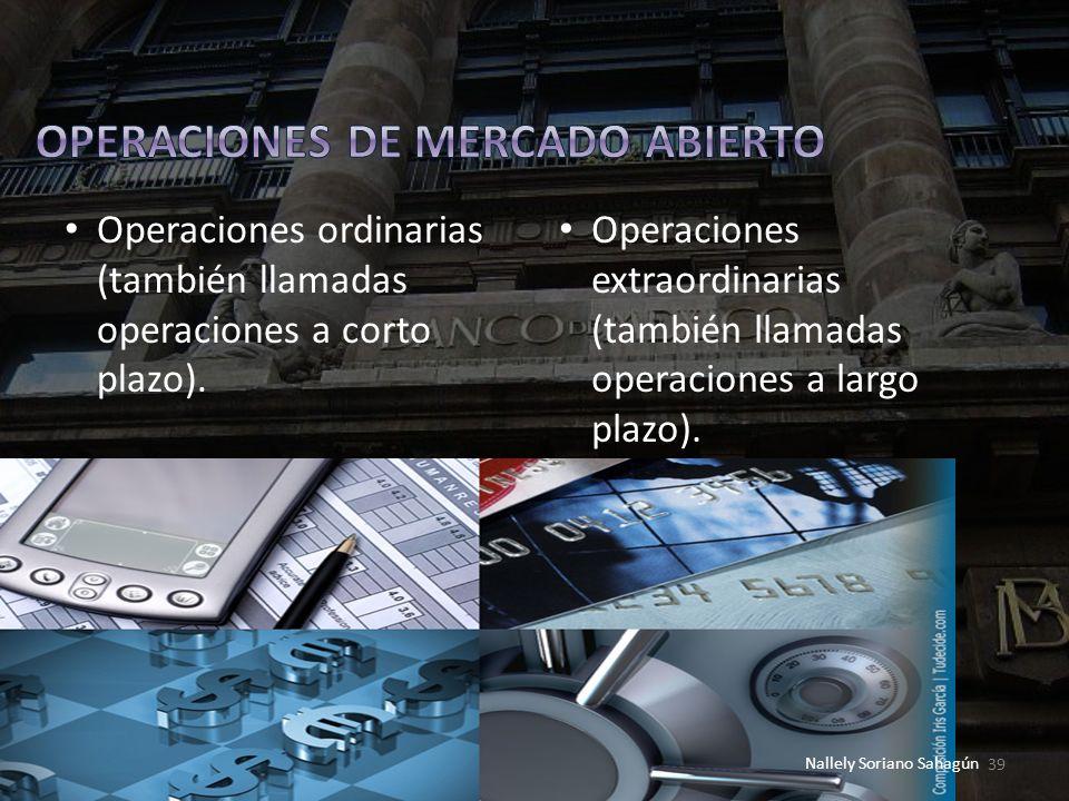 OPERACIONES DE MERCADO ABIERTO