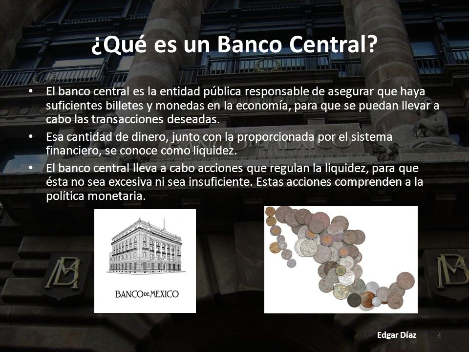 ¿Qué es un Banco Central