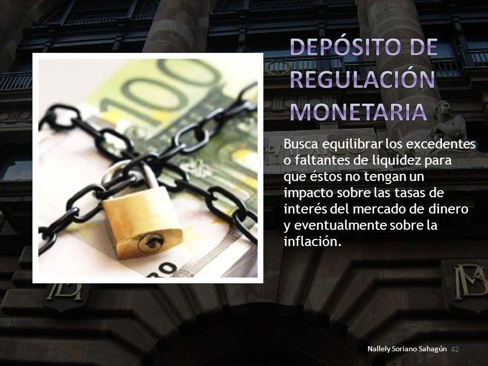 Depósito de regulación monetaria
