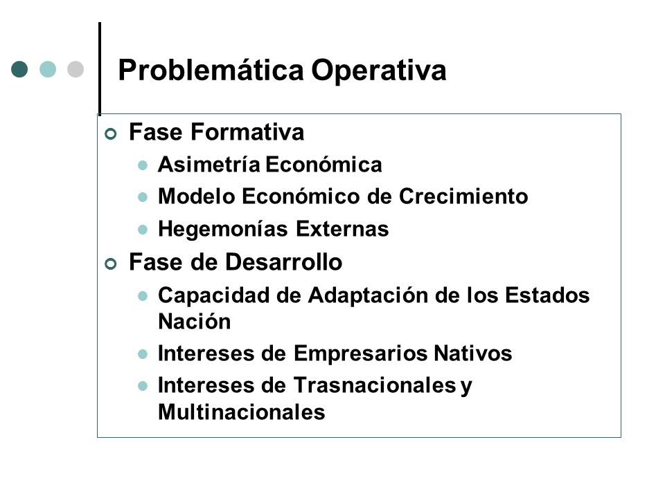 Problemática Operativa