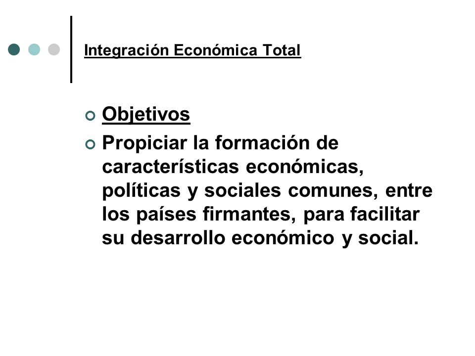 Integración Económica Total