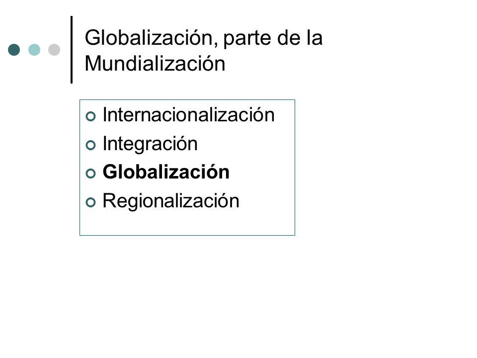 Globalización, parte de la Mundialización