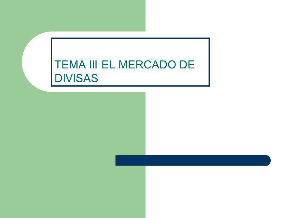 TEMA III EL MERCADO DE DIVISAS