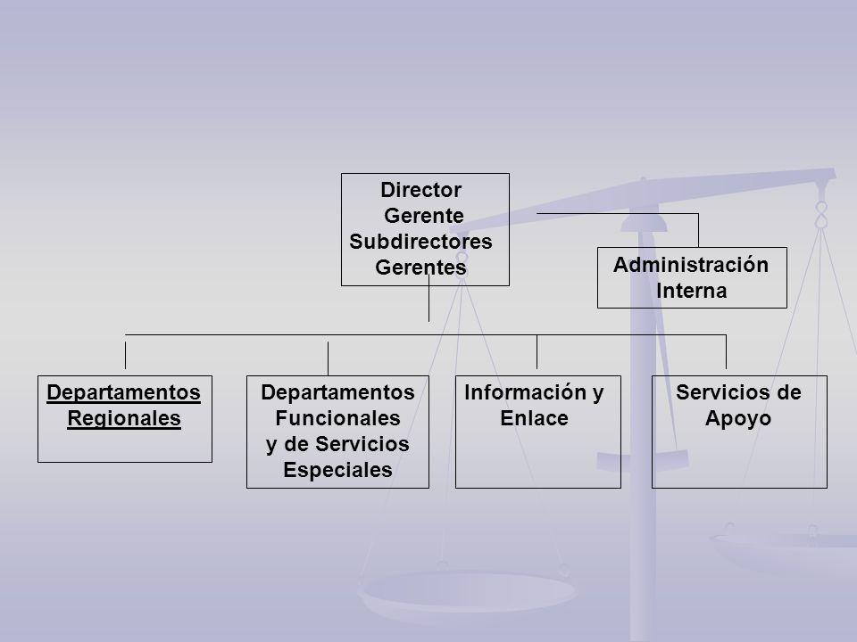 Departamentos Funcionales y de Servicios Especiales