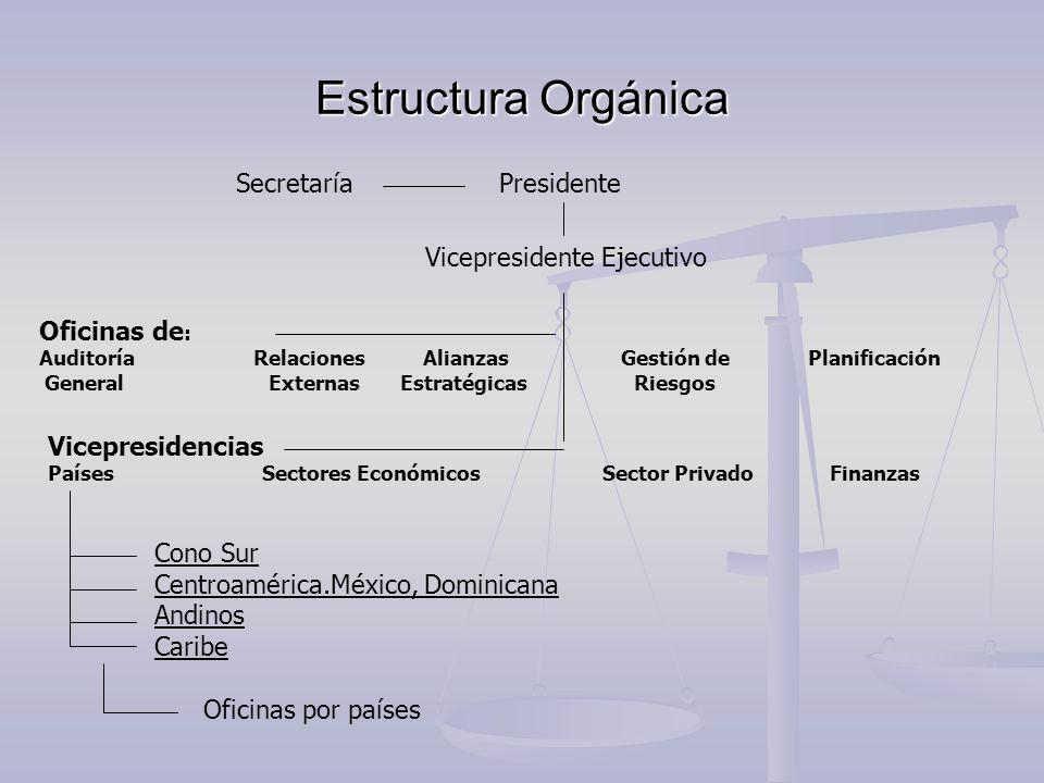 Estructura Orgánica Secretaría Presidente Vicepresidente Ejecutivo