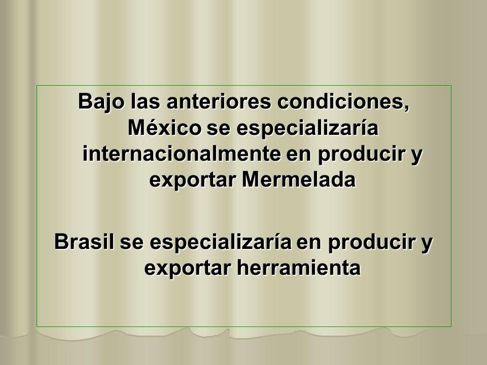 Brasil se especializaría en producir y exportar herramienta