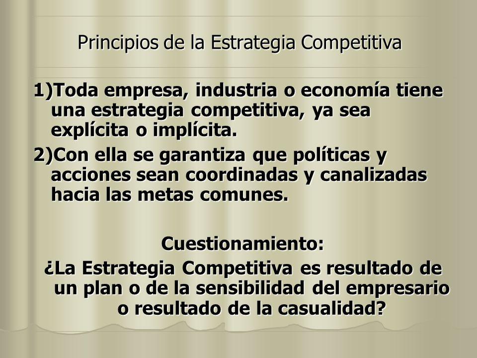 Principios de la Estrategia Competitiva