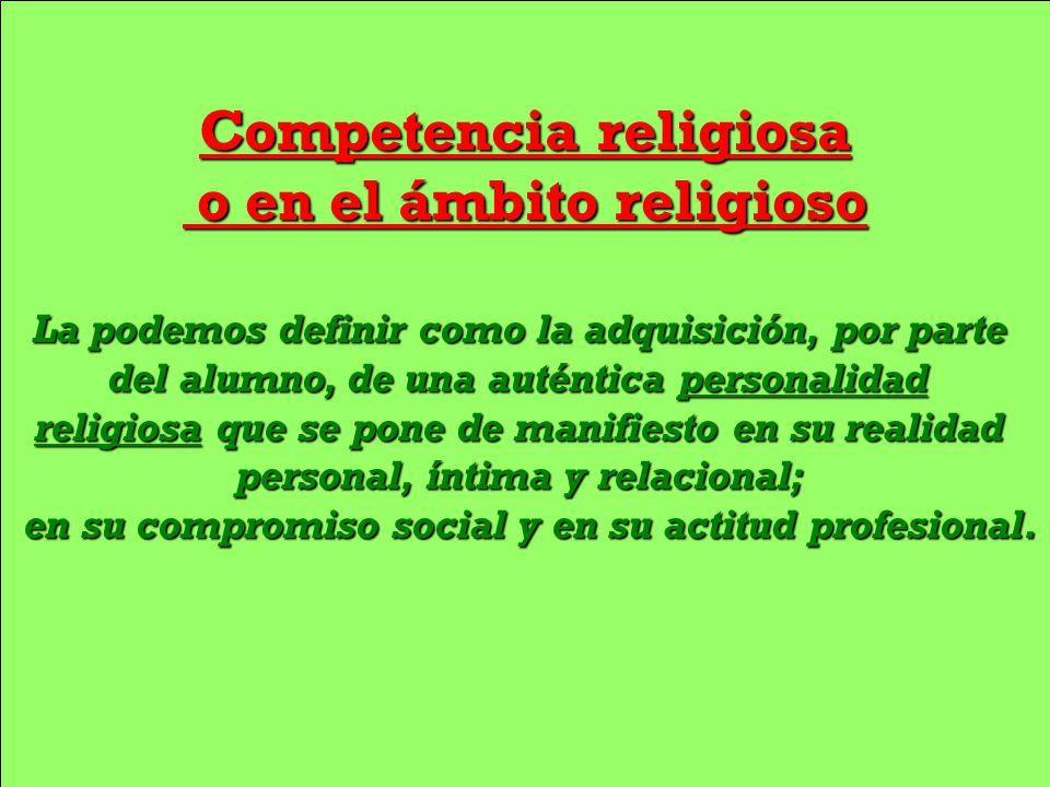Competencia religiosa o en el ámbito religioso