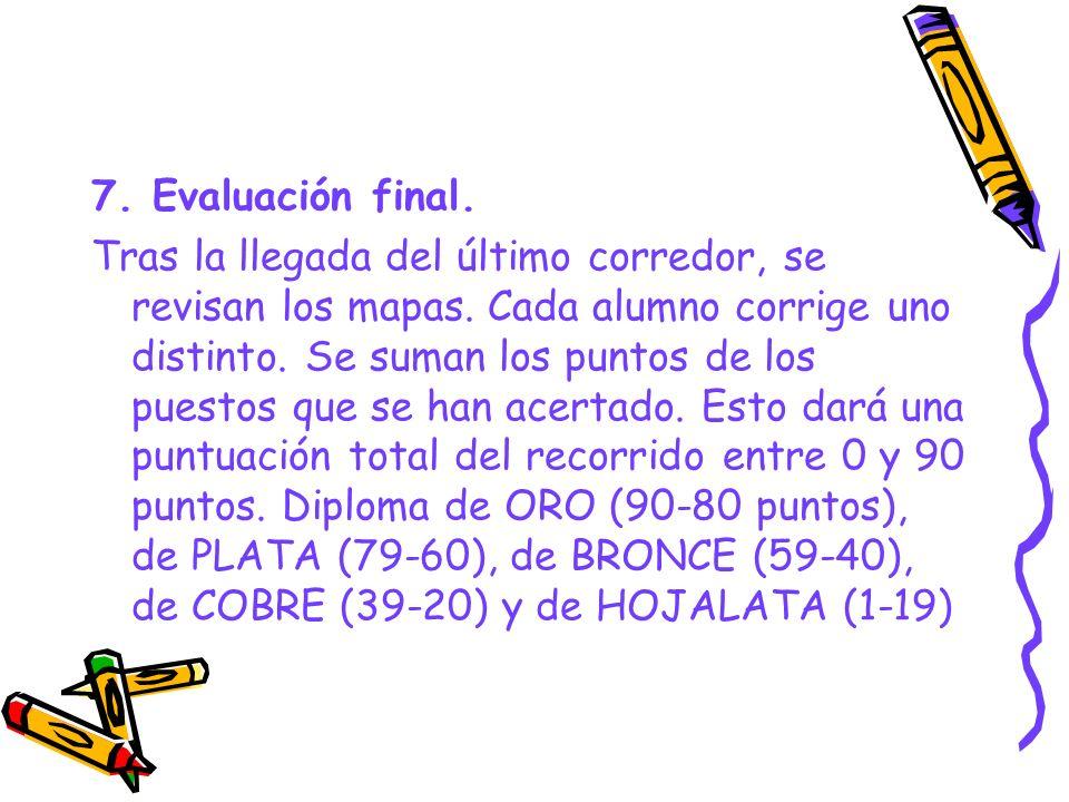 7. Evaluación final.