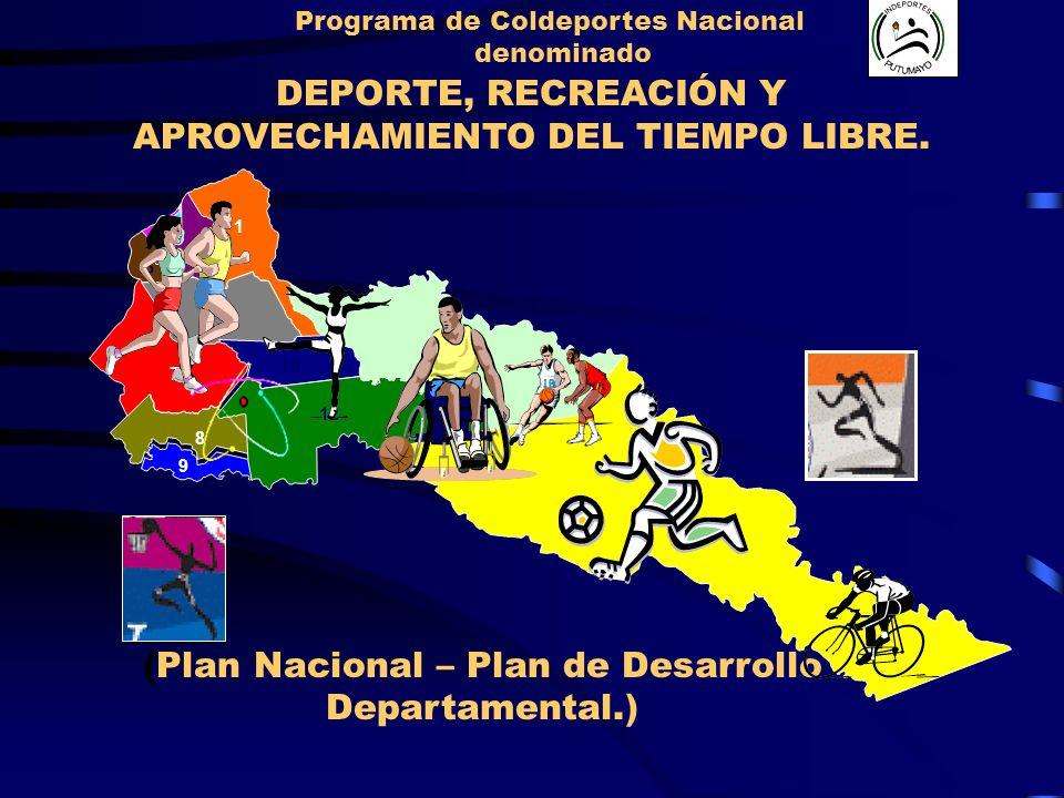 Programa de Coldeportes Nacional APROVECHAMIENTO DEL TIEMPO LIBRE.