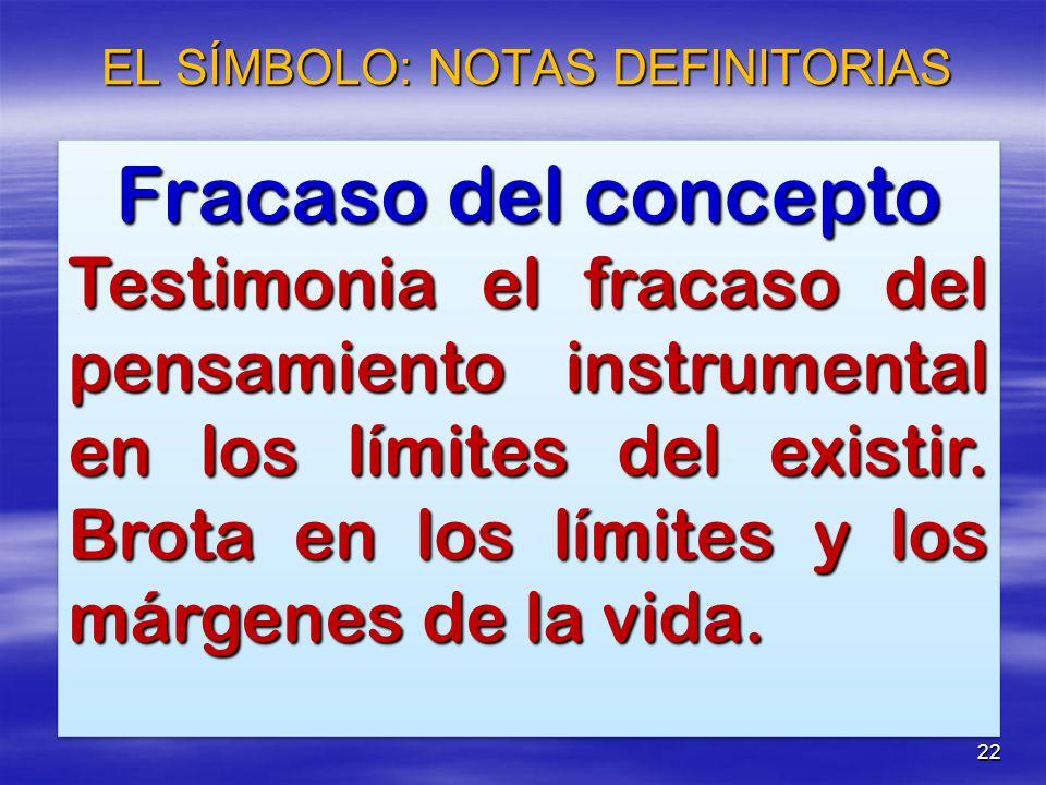 EL SÍMBOLO: NOTAS DEFINITORIAS