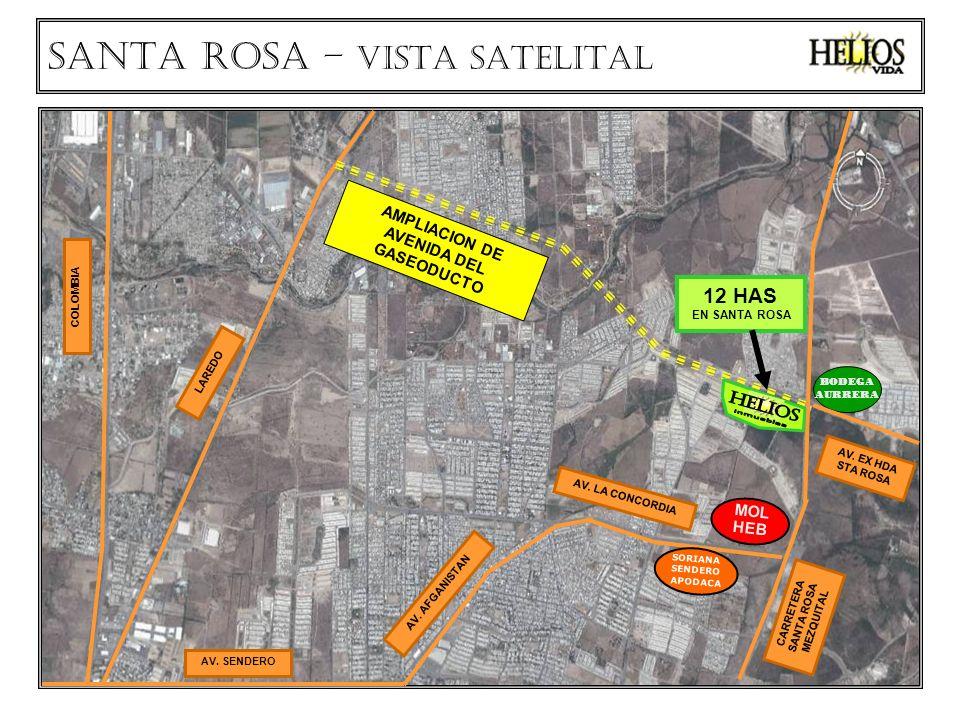 AMPLIACION DE AVENIDA DEL GASEODUCTO CARRETERA SANTA ROSA MEZQUITAL