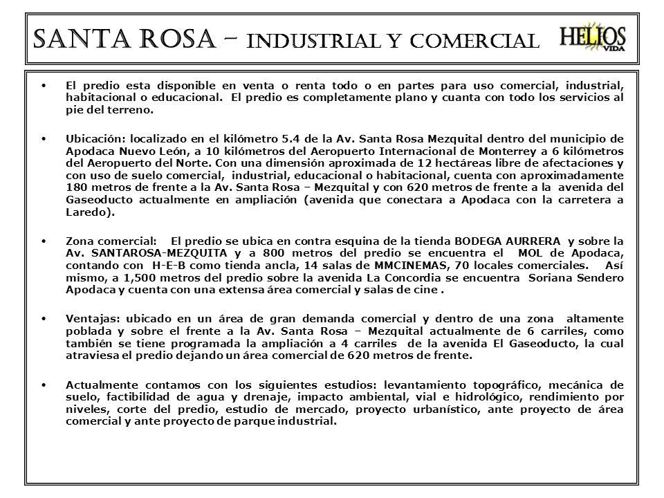 SANTA ROSA – INDUSTRIAL Y COMERCIAL