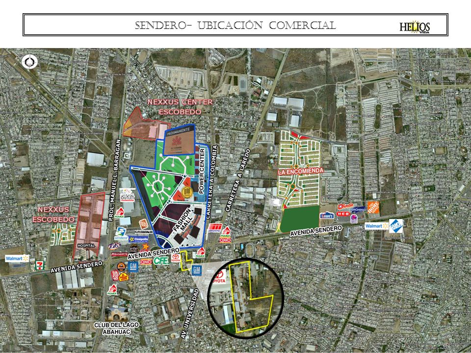 Sendero- ubicación COMERCIAL
