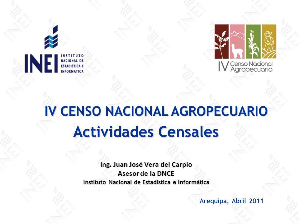 Actividades Censales IV CENSO NACIONAL AGROPECUARIO