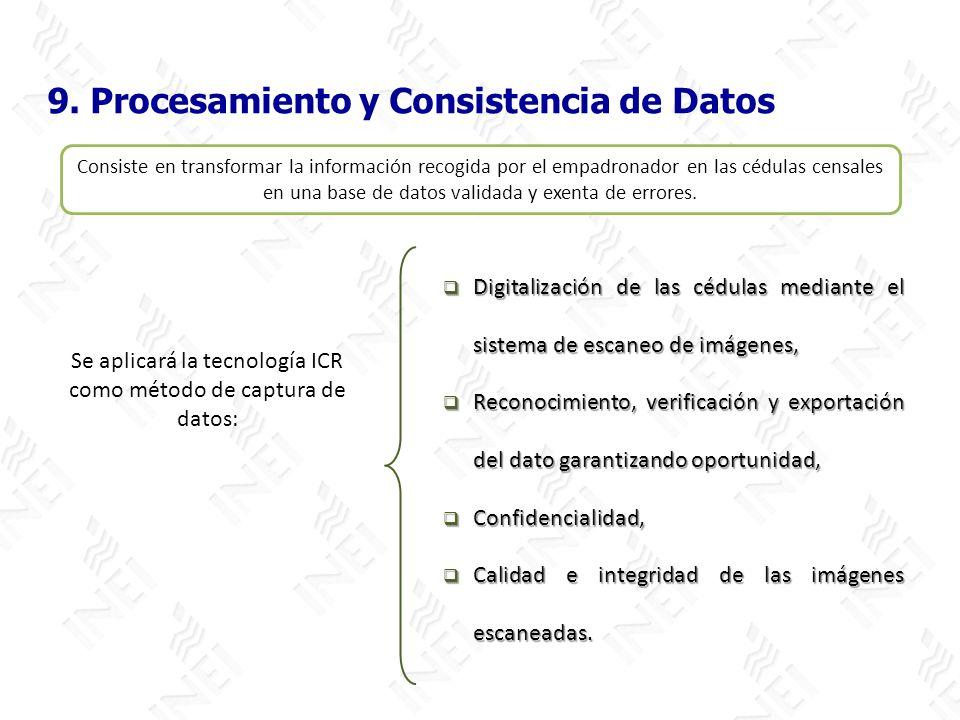 Se aplicará la tecnología ICR como método de captura de datos:
