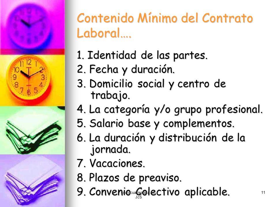 Contenido Mínimo del Contrato Laboral….