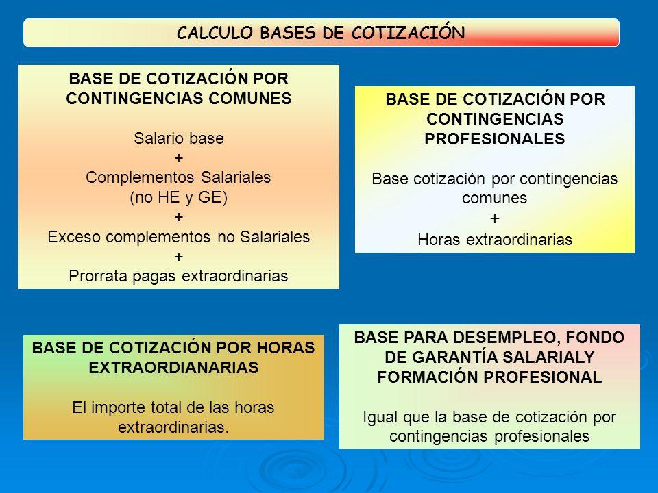 + CALCULO BASES DE COTIZACIÓN