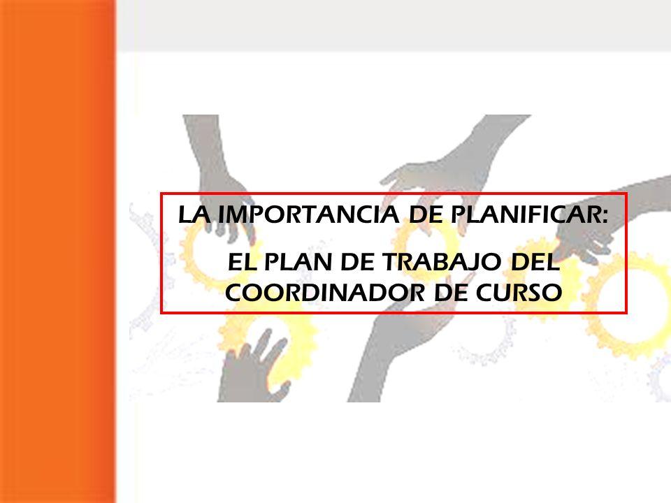 LA IMPORTANCIA DE PLANIFICAR: