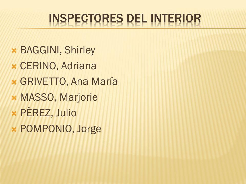 INSPECTORES DEL INTERIOR