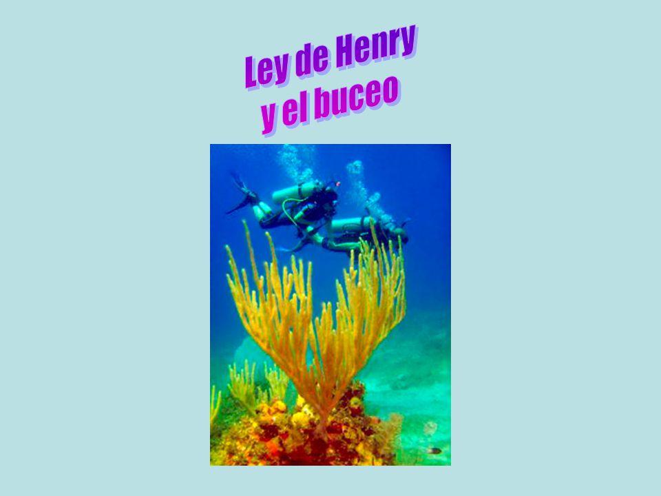 Ley de Henry y el buceo