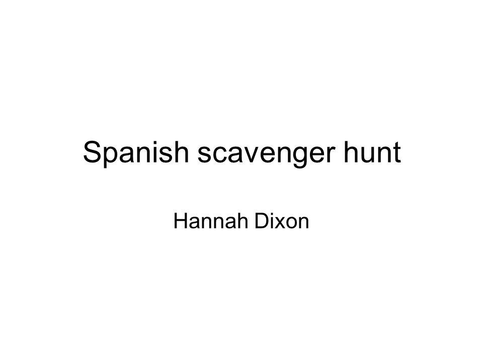 Spanish scavenger hunt