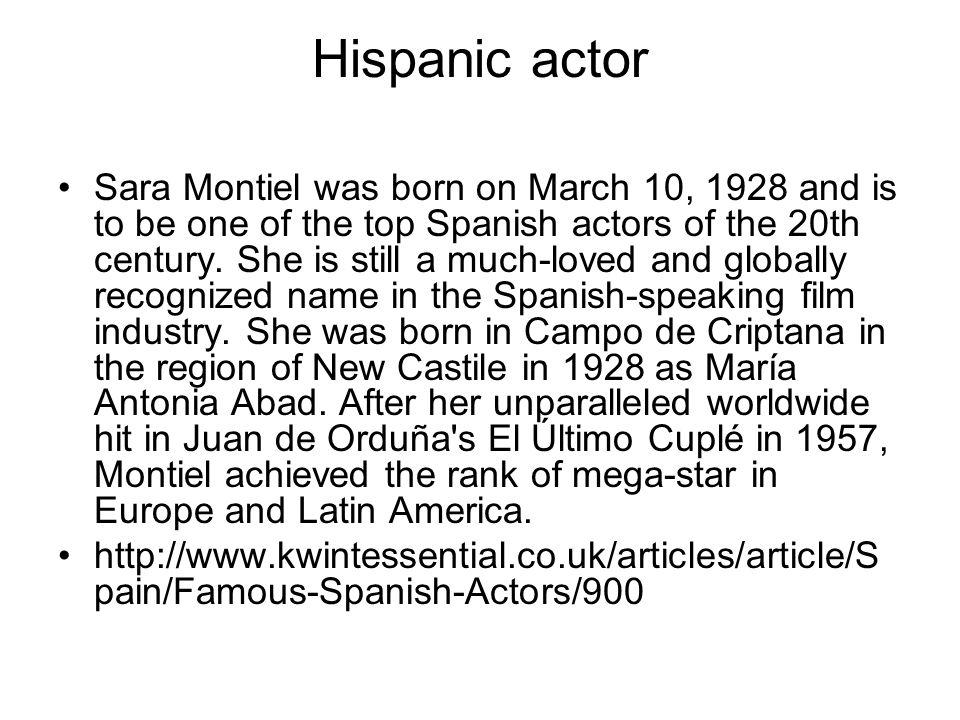 Hispanic actor