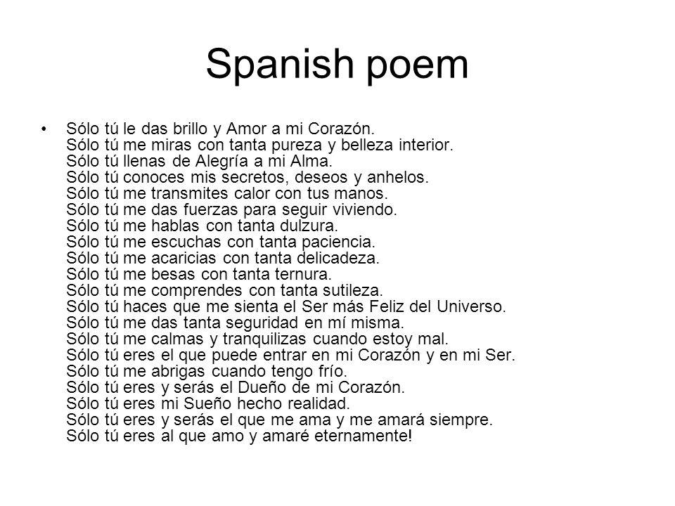 Spanish poem