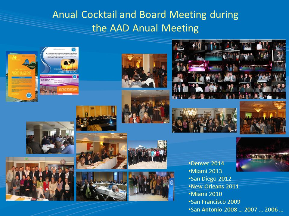 Anual Cocktail and Board Meeting during