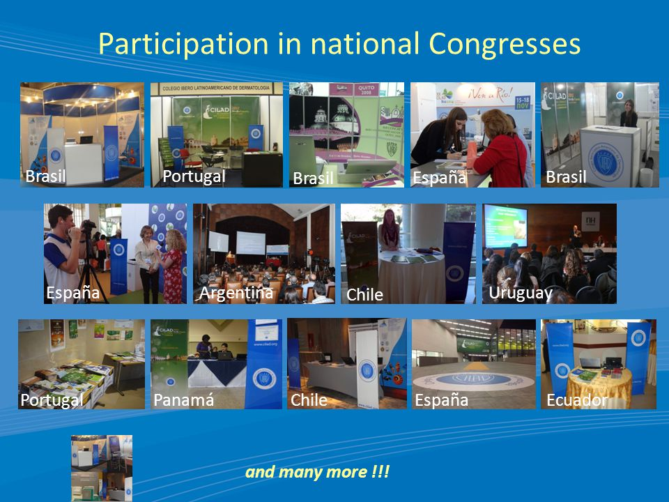 Participation in national Congresses