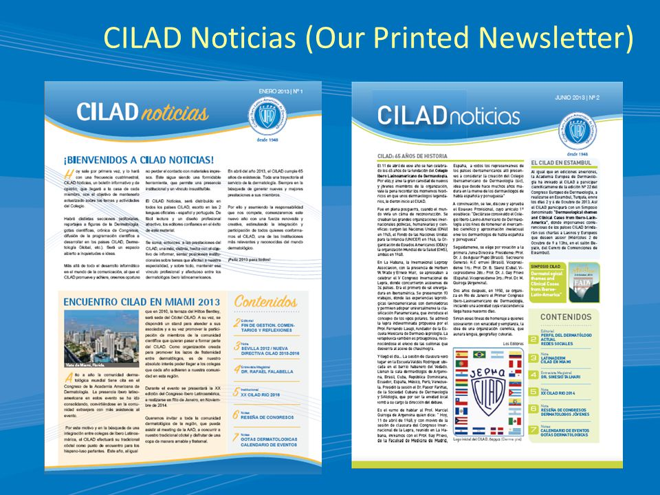 CILAD Noticias (Our Printed Newsletter)