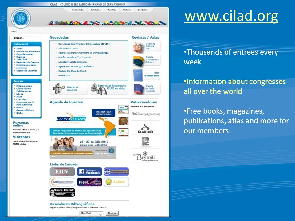www.cilad.org Thousands of entrees every week