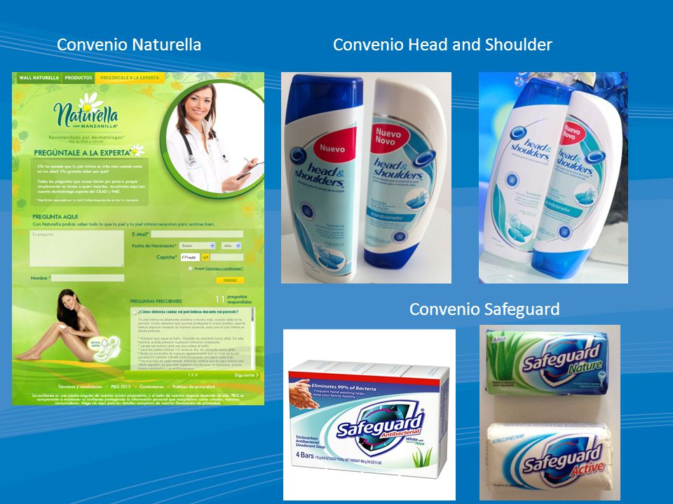 Convenio Naturella Convenio Head and Shoulder Convenio Safeguard