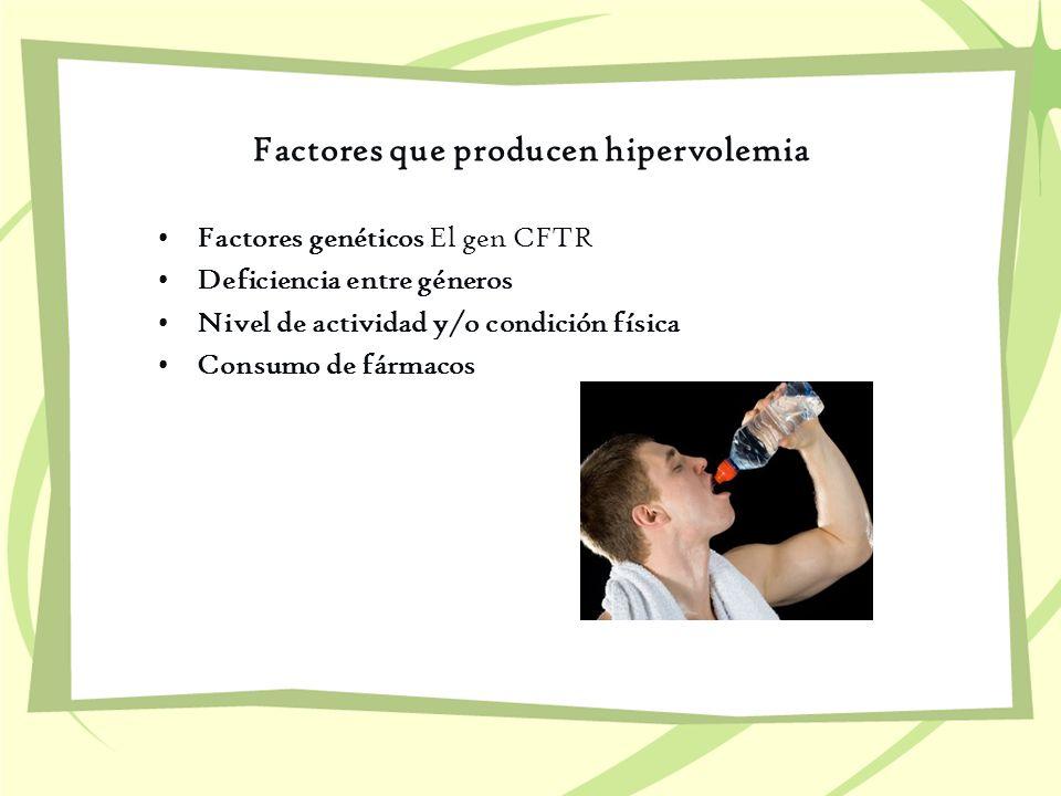 Factores que producen hipervolemia