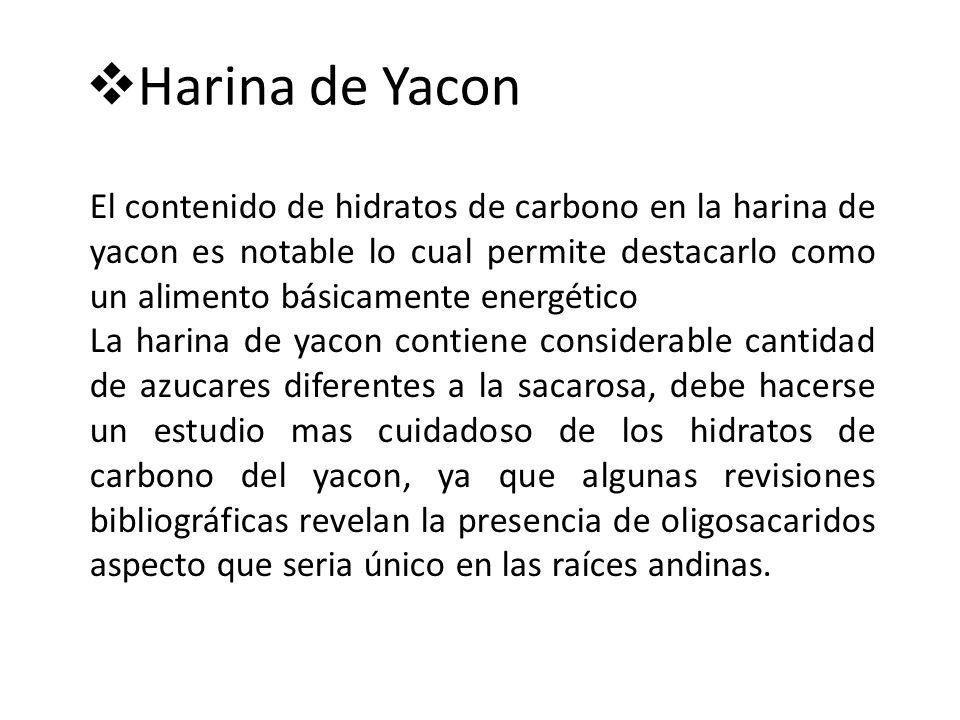 Harina de Yacon