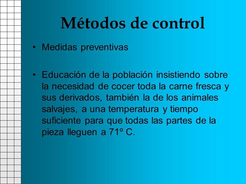 Métodos de control Medidas preventivas