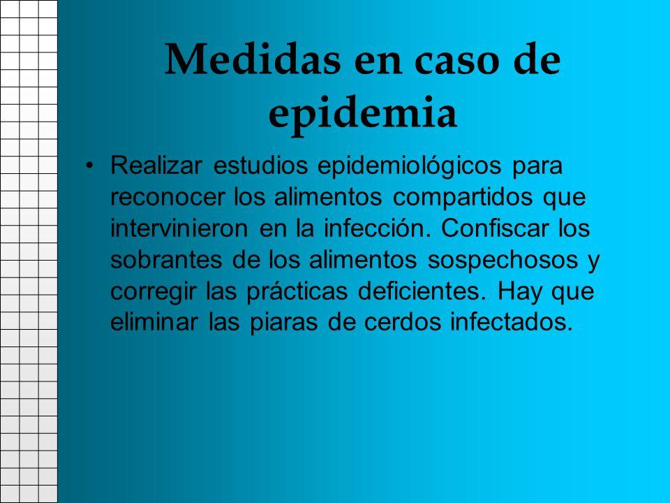 Medidas en caso de epidemia