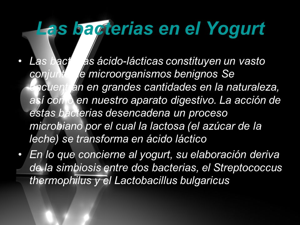 Las bacterias en el Yogurt