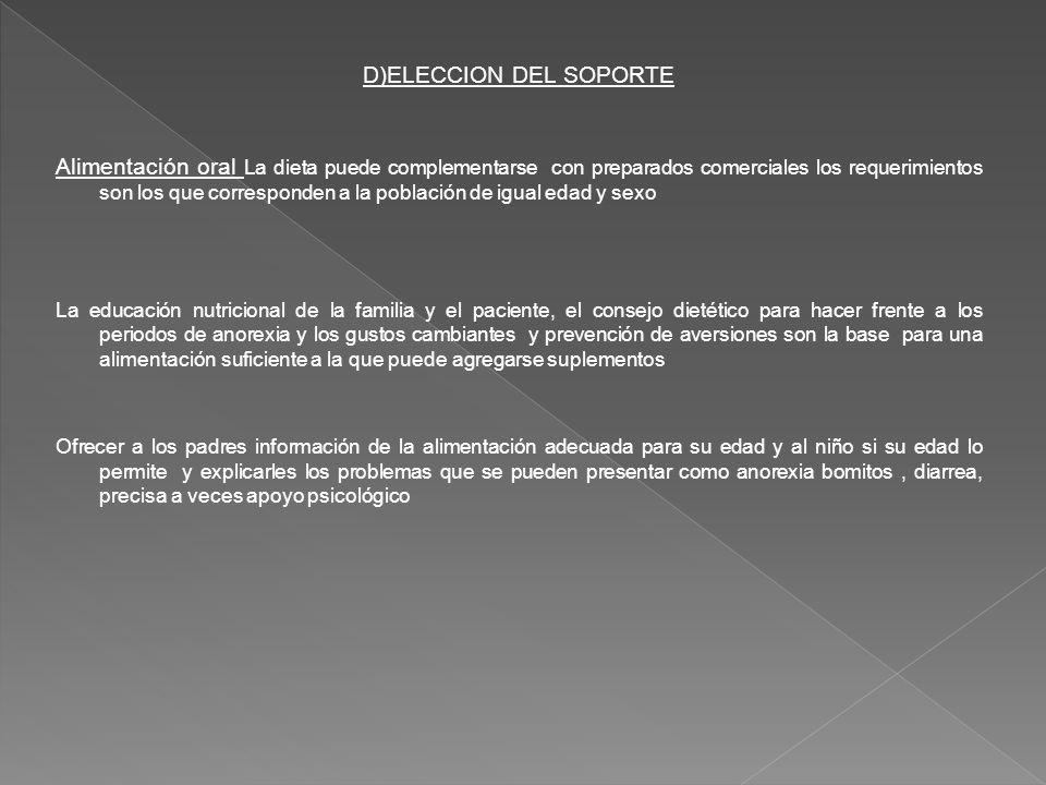 D)ELECCION DEL SOPORTE